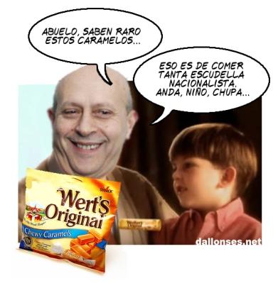 Wert's Original, caramels espanyolitzants