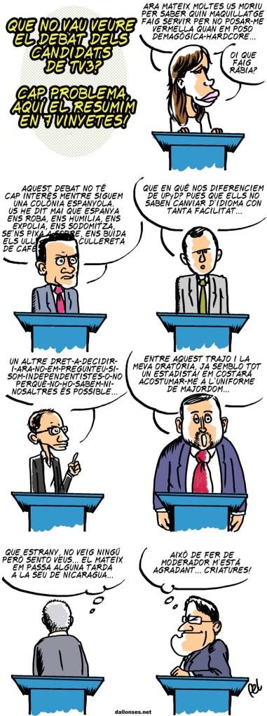 El debat de TV3 dels candidats electorals
