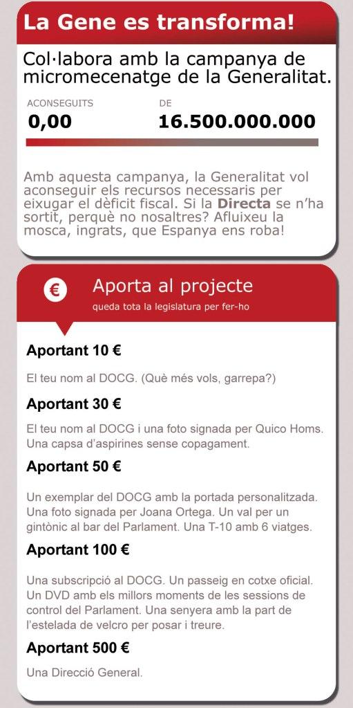 [Directa] Un Verkami per a la Generalitat