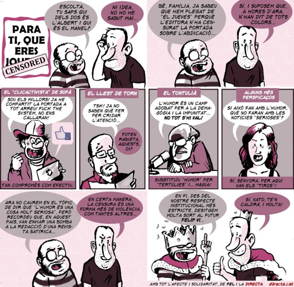 "[DIRECTA] Sobre la censura a ""El Jueves"""